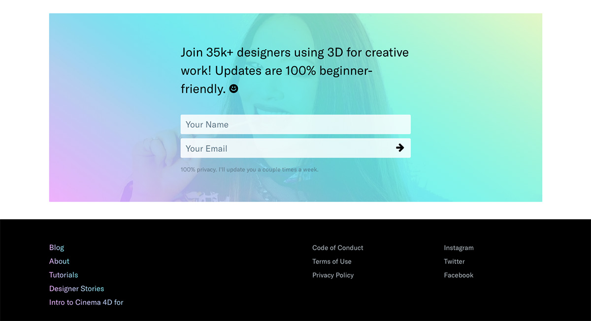 3D for designers form