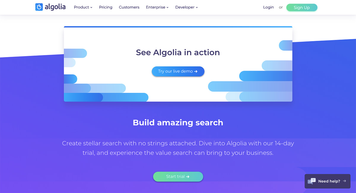 Algolia button